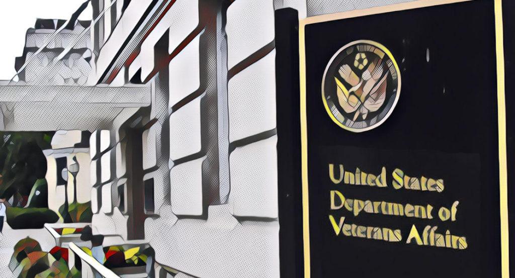 photo illustration of the VA building in Washington DC