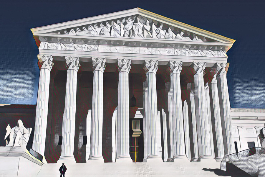 Photo illustration of the Supreme Court building